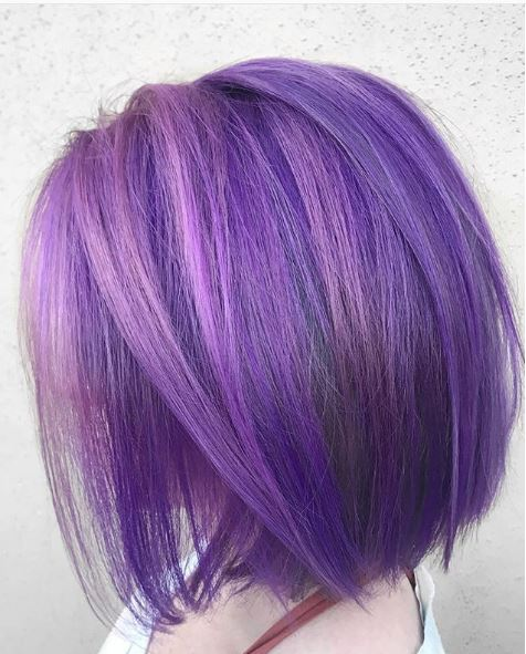 A dusty purple meets hints of blush in this effect by @monarchhairco