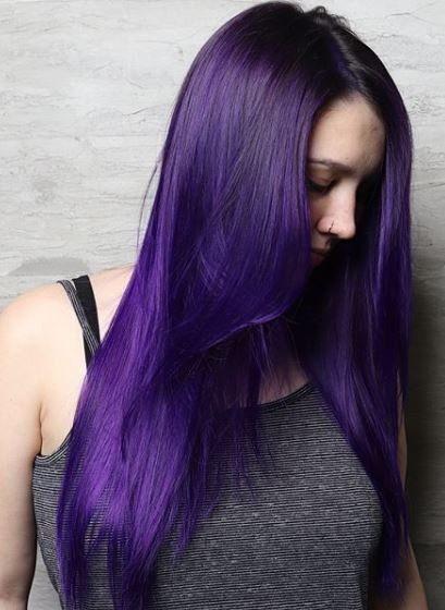 @bekahshair shows the true meaning of Ultra Violet with this bright color using Pravana Vivids.