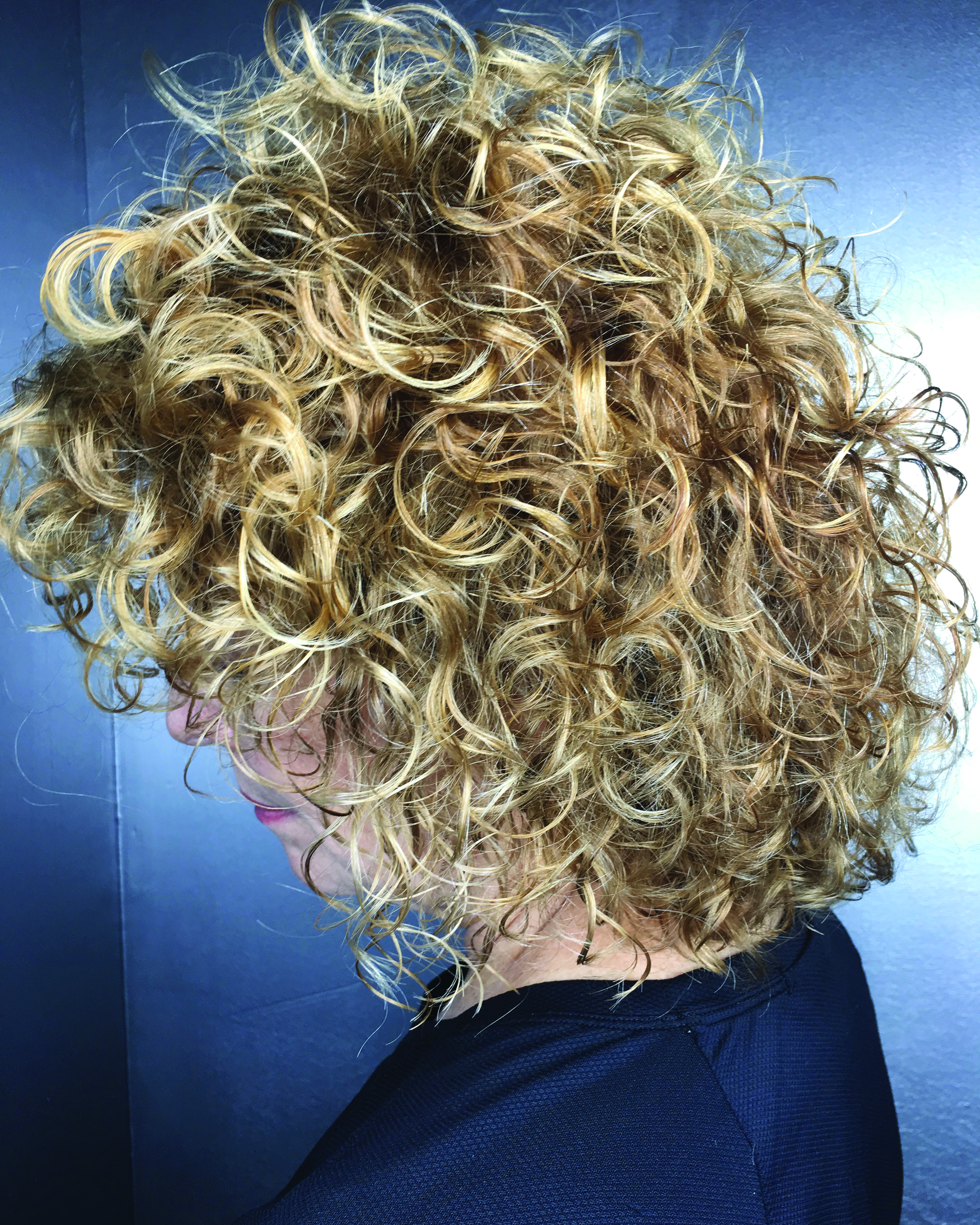 Blonde Color for Curly Hair with Depth and Dimension