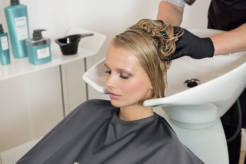 Shampoo with Kerasilk Repower Volume Shampoo, then apply the Kerasilk Repower Intensive Volume Treatment section-by section with a brush, and comb through.