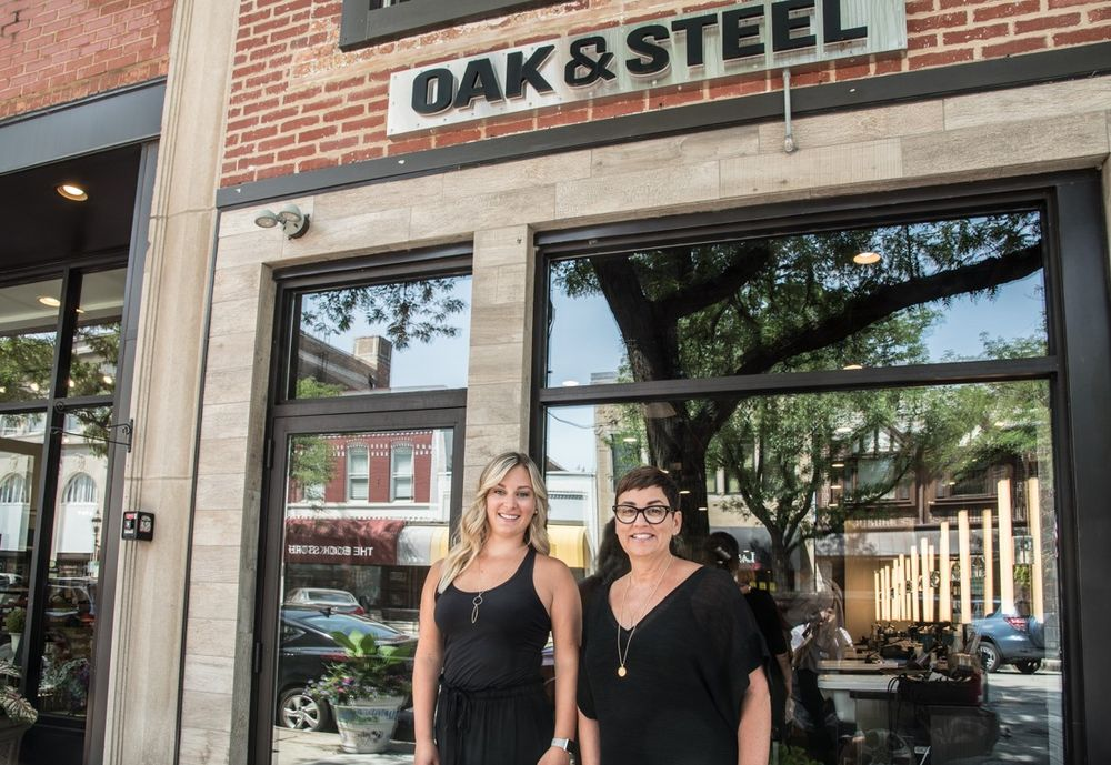 <p>Jori Moroni and Dana Reese, owners of Oak and Steel in Glen Ellyn, Illinois.</p>