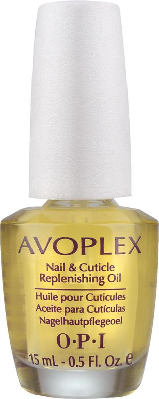 Rich in skin-loving avocado oil and tocotrienol, as well as grape seed, sunflower, sesame and kukui nut oils, Avoplex works to restore moisture and lipids to the skin to nourish dry cuticles, heels and elbows. ... AVOPLEX Nail & Cuticle Replenishing Oil by OPI