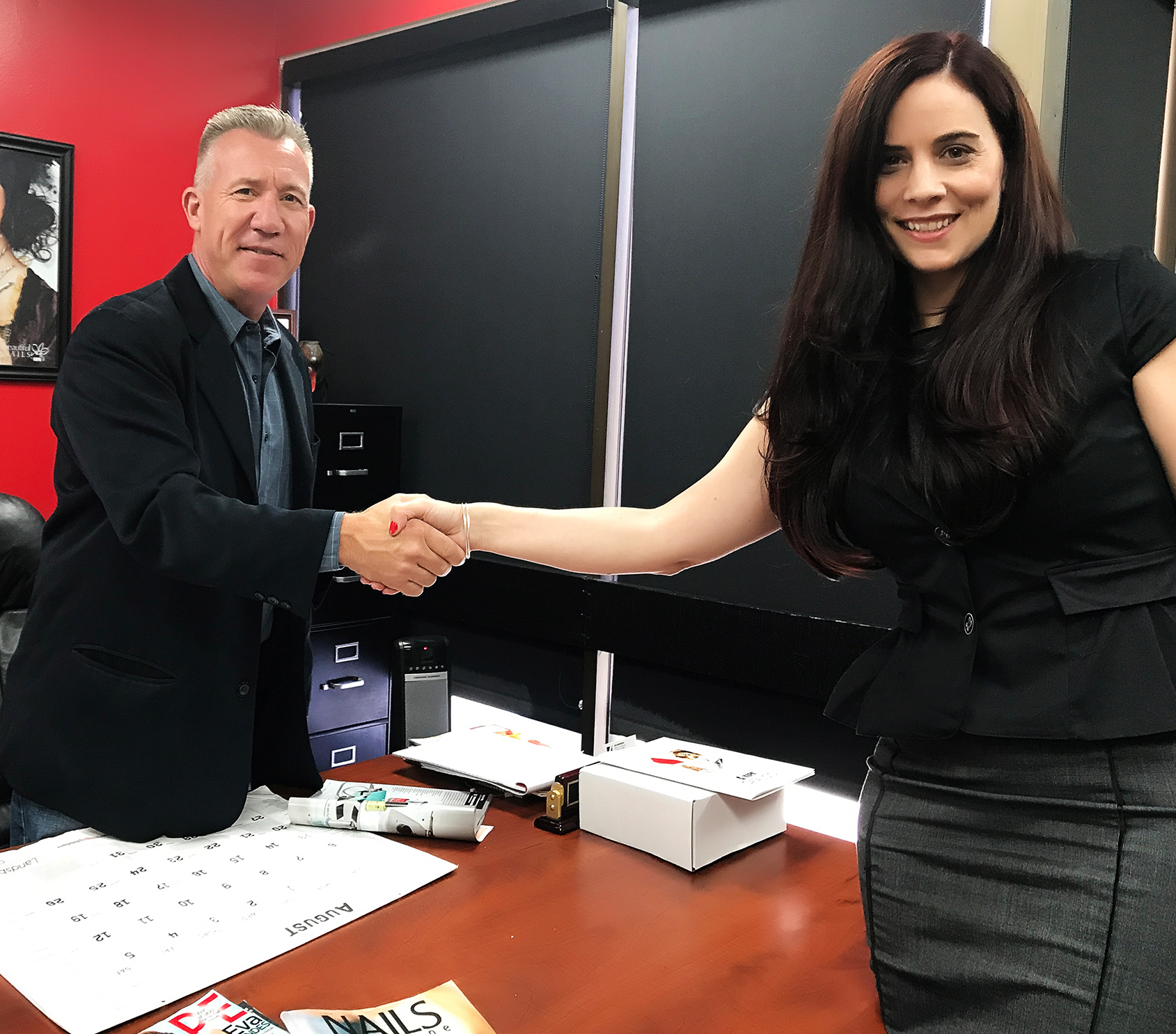 Richard Hunter, CEO of Kupa Inc., and Elaine Watson, executive vice president of Nailebrity, will be working together to expand Kupa's international presence.