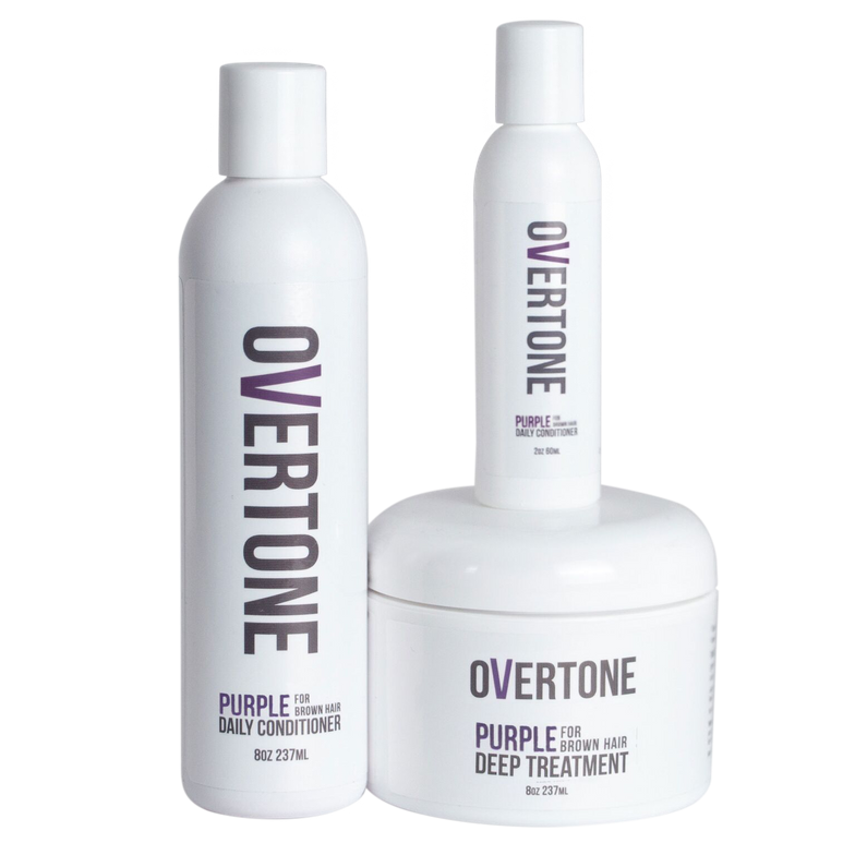 <p>I'm big into Overtone for at-home care of my clients' color! The pigmentation is A+, it fades true to tone (which helps my clients not to over-use it) and it doesn't build up so it's easy to remove before the next color! Plus it smells amazing.</p> <p>-@mgcartistry</p>
