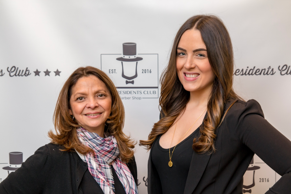 The President's Club Barber Shop co-owners Laura Aguilar (left) and Katie LaVecchia.
