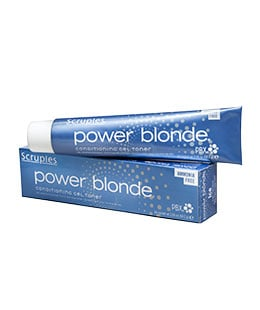 <strong>Scruples Power Blonde Conditioning Gel Toners:</strong> Develop long-lasting color that neutralizes, enhances or cancels warm underlying tones from decolorizing with a gel base that delivers an impactful tonal deposit.Shades can be intermixed to create a variety of tones and customized blondes.