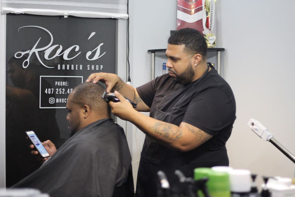 <p>Berman Rodriguez, who took his cuts from $12 to $35, encourages professional conversations by keeping his facial steamer and retail products right where clients can see them.</p>