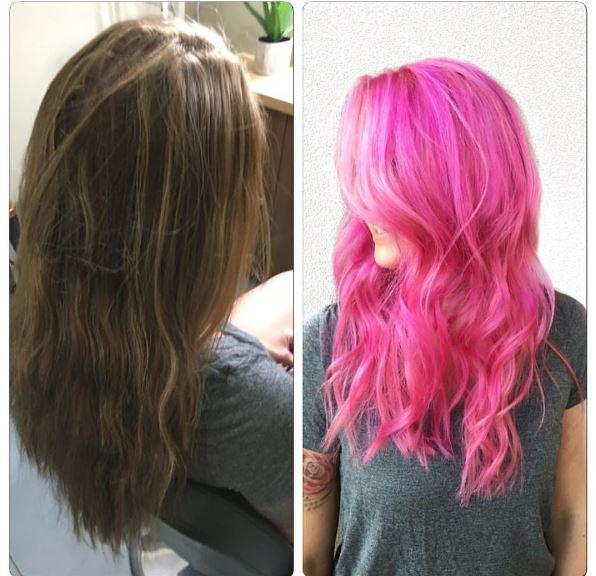 Brunette to Bright Pink with Elumen Formula