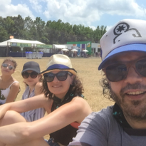 Patrick and his family at Firefly.