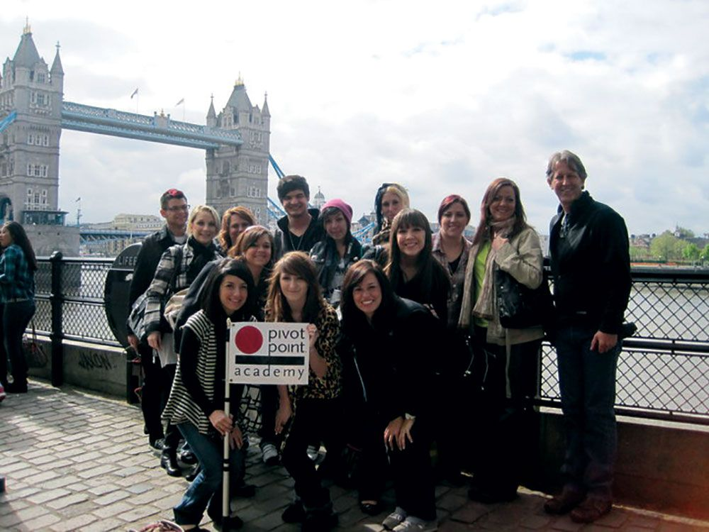 Rivera participates in a study abroad trip to London with his beauty school, discovering a love for travel and advanced education.