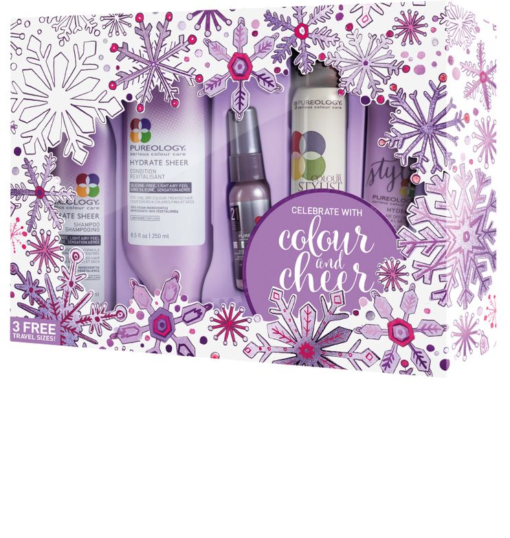 <strong>NEW! Hydrate Sheer Holiday Gift Set Includes:</strong>Hydrate Sheer Shampoo , Hydrate Condition, NEW! Hydrate Air Dry Cream, Colour Fanatic Multi-Tasking Beautifier, Colour Stylist Supreme Control maximum hold zero-dulling hairspray