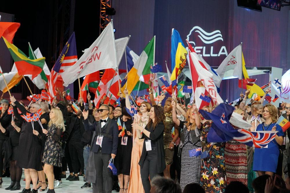 The Parade of Nations at Wella International Trend Vision Awards