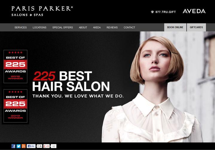 2013 STAMP Website Winner: Paris Parker Salon and Spa