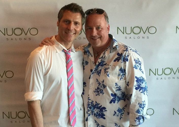 James Amato and Terry McKee, co-owners of Nuovo Salon Group with locations in Sarasota, Florida.