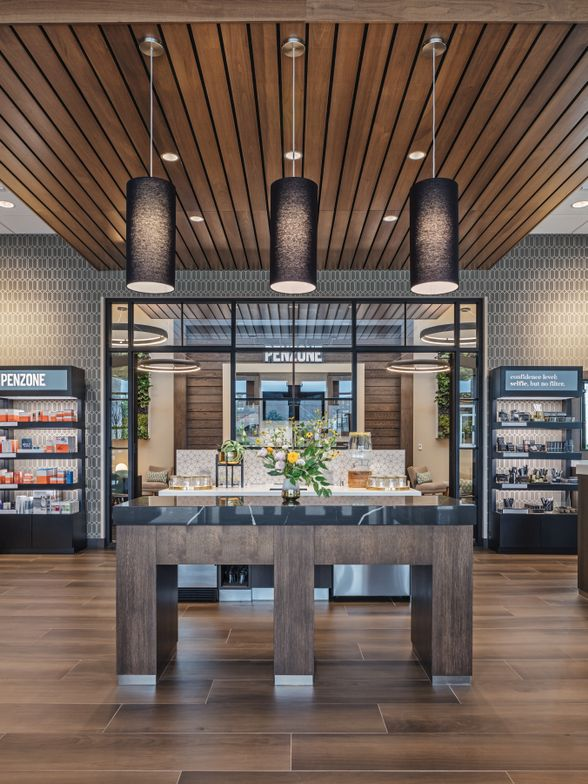 <p>With its Free Sips Station, Social Room, Beauty Zone and cafe, the client experience is the name of the game at PENZONE Salon + Spa.</p>