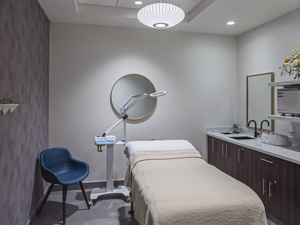 One of the salon's seven spa treatment rooms.
