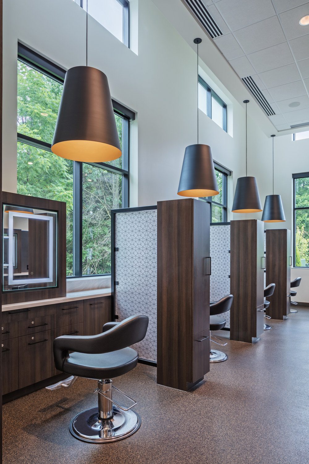 One of the salon's private stations.