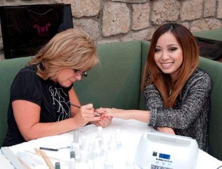 Michelle Phan Celebrates with Gelish Manicures