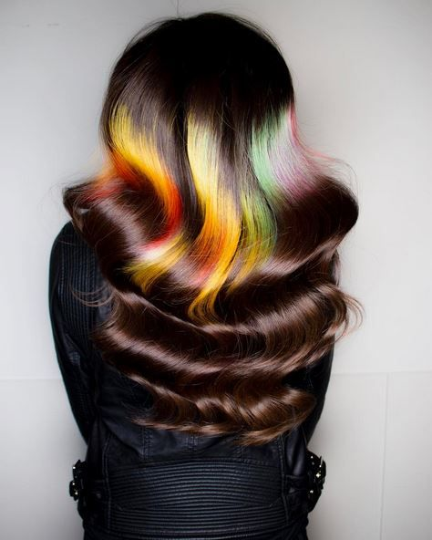 Phil Ring is knowns for his out-of-the box hair color designs. Check out more of his designs on his Instagram page @phildoeshair.