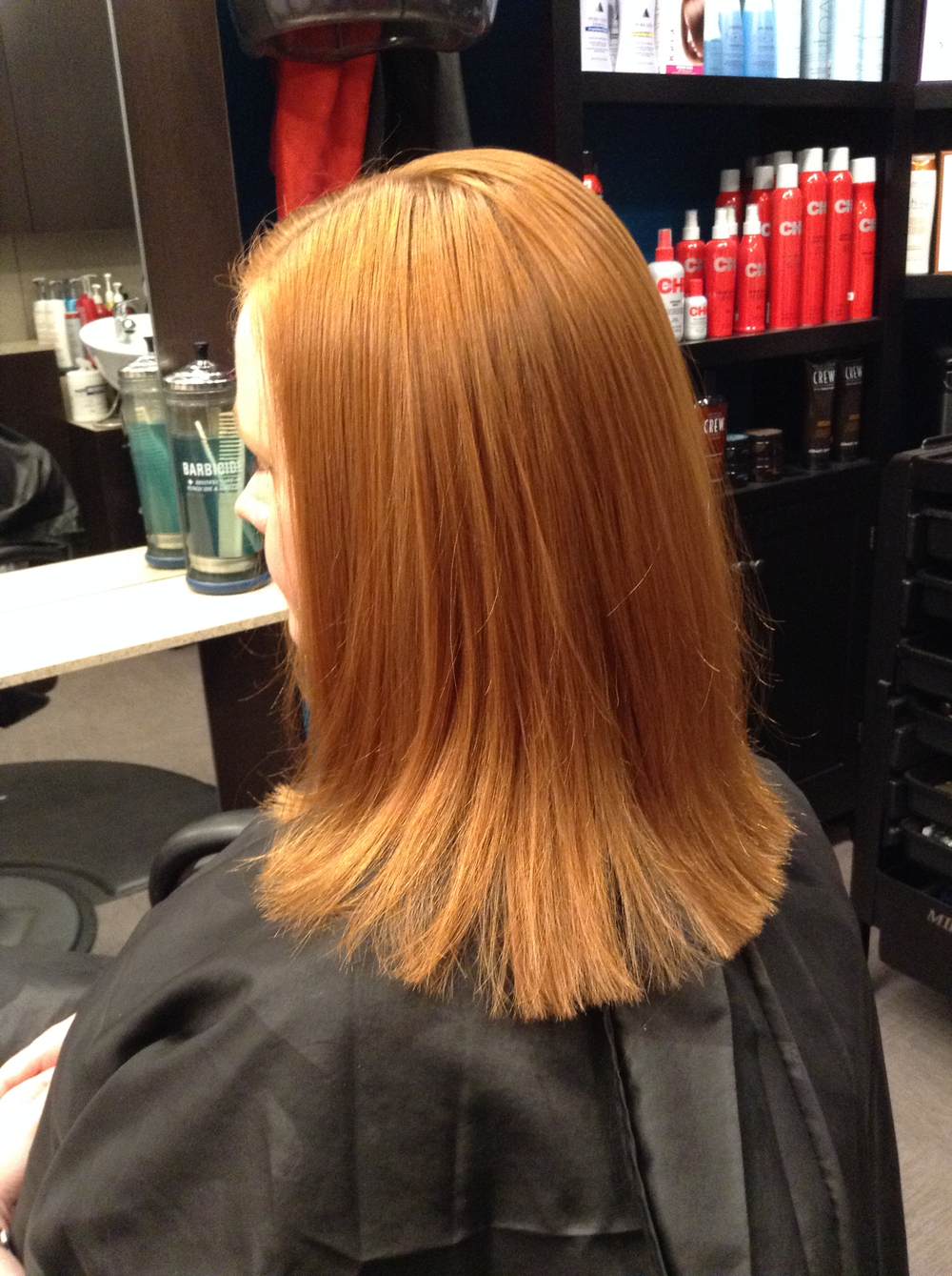Renee Noice specializes in color and reds of all variations. Redheads are particular about maintaining vibrant haircolor, which makes pre-booking even easier.