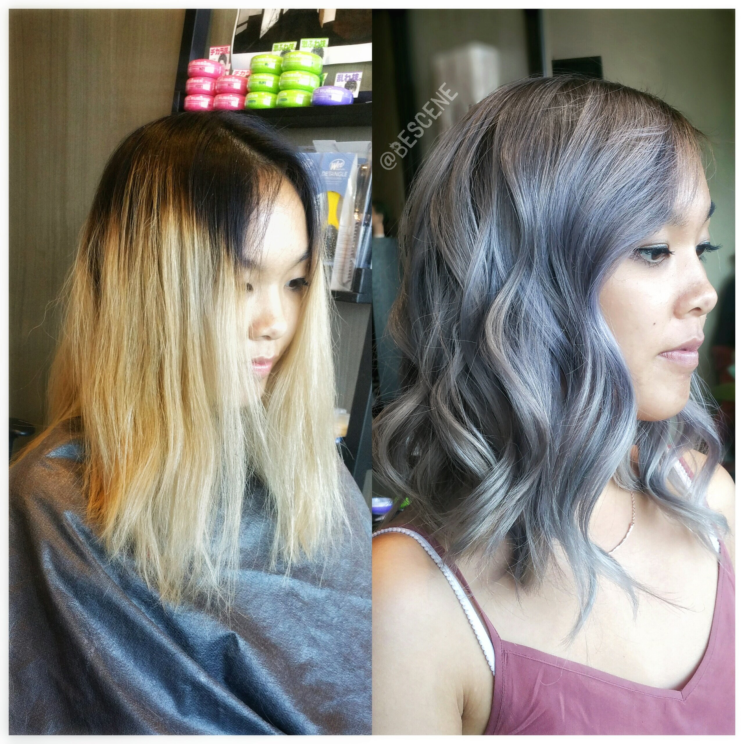 TRANSFORMATION: Grown-Out to Silvery Lavender