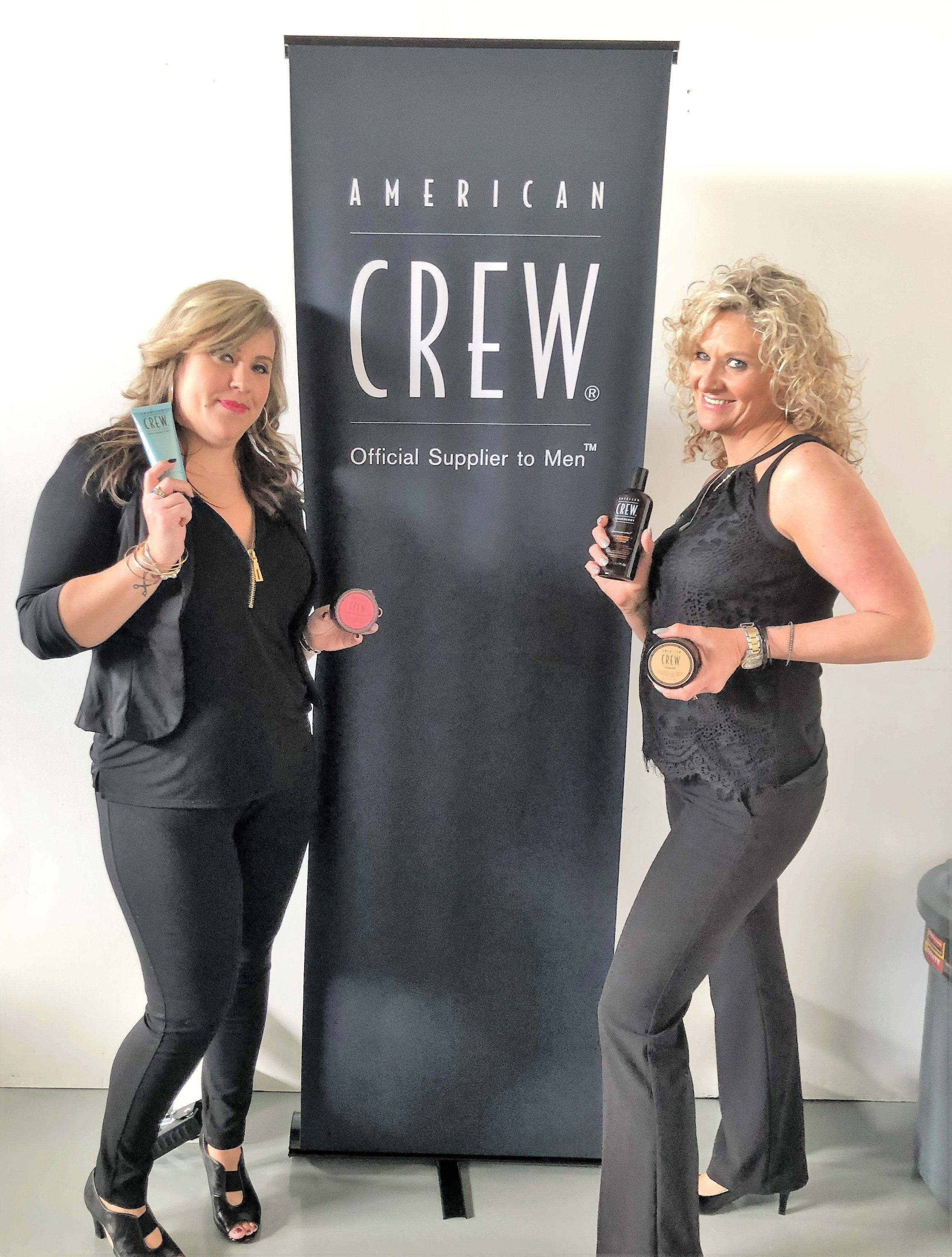 "<p><strong>""American Crew took care of all the arrangements,"" says Lee Ann, who is shown here with her guest, Sport Clips Manager Stephanie Clark. ""We learned a lot about their products and created memories that will last a lifetime.""</strong></p>"