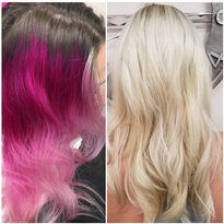 Color Removing: From Magenta To Pale Blonde