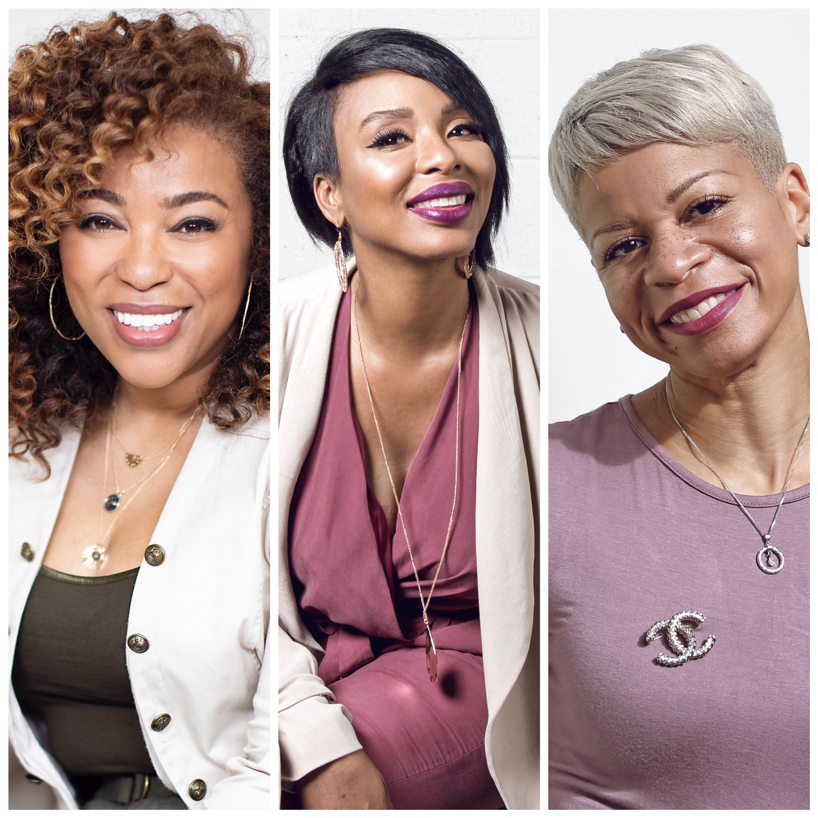 Mizani announces new education leadership. From left: Mizani Global Artistic Director, Tippi Shorter; Mizani Global Artistic Director, Pekela Riley and Mizani Techncal Director, Evie Johnson