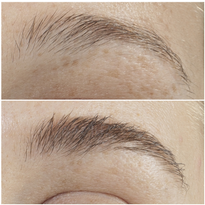 Before and after using GrandeBROW Brow Enhancing Serum for three months.