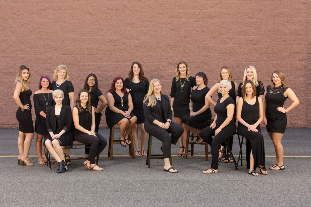 The team from Posh Salon of Williamsburg, in Williamsburg, VA.