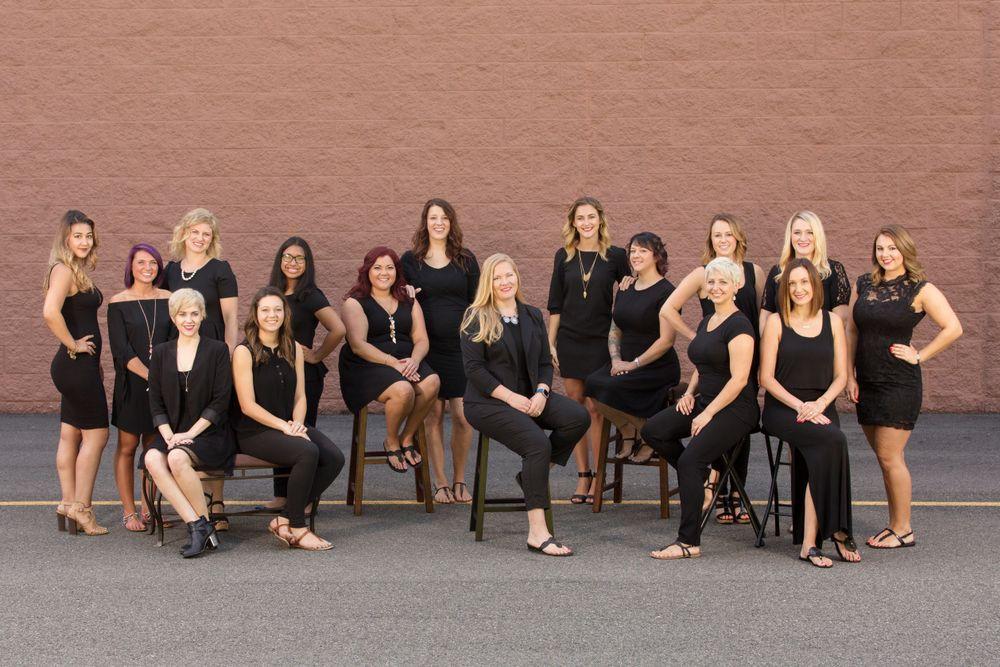 The team from Posh Salon of Williamsburg, in Williamsburg, VA.