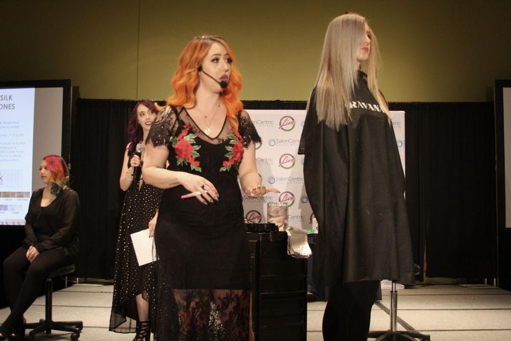 Pravana's Best in Blonding and Balayage class at America's Beauty Show
