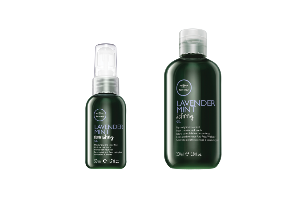 <strong>Lavender Mint Nourishing Oil absorbs quickly to fight frizz. Lavender Mint Defining Gel hydrates as it provides crunch-free hold for curls.</strong>