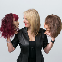 Cindy Feldman, owner of Progressions Salon Spa Store in Rockville, Maryland, has some fun with...
