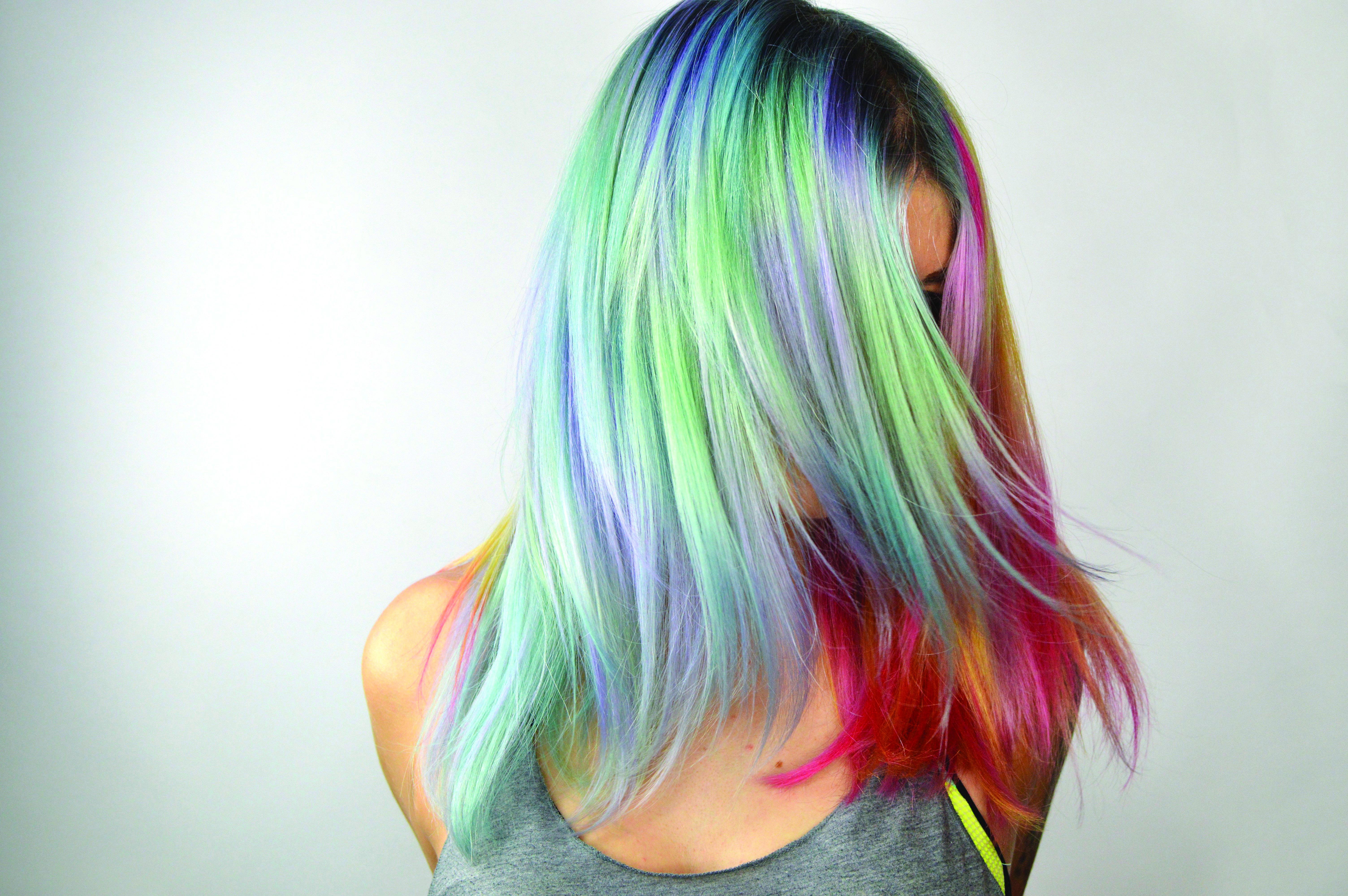 Multi-Color Pastel Rainbow Hair
