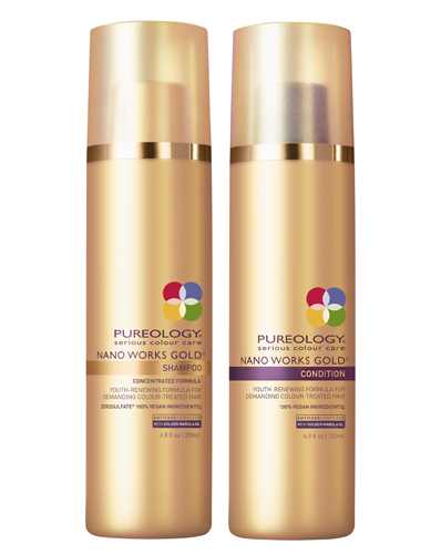 Pureology's New Nano Works Gold Shampoo & Conditioner