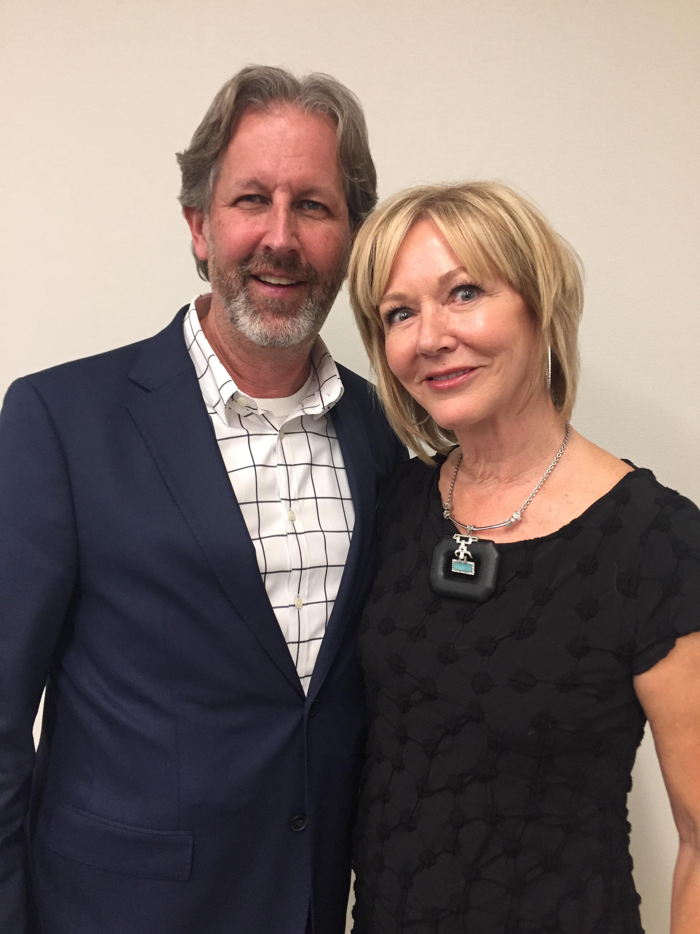 Robert Passage, Chairman and CEO of Pivot Point International, and Denise Provenzano of Zano Salons