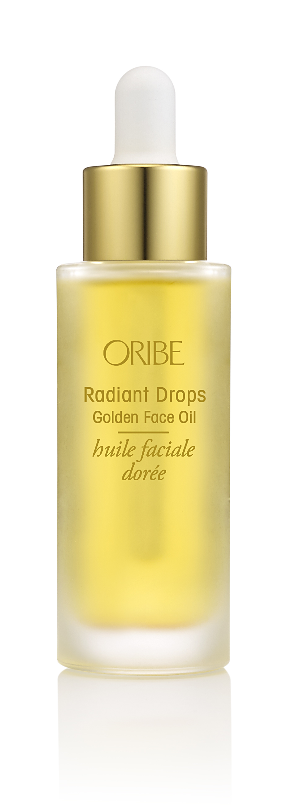 Radiant Drops Golden Face Oil: Concentrated blend of 13 natural oils melts into skin to give skin a healthy glow, leaving it soft, smooth and protected. Contains algae extract, rose hips oil, sea buckthorn berry oil and more.