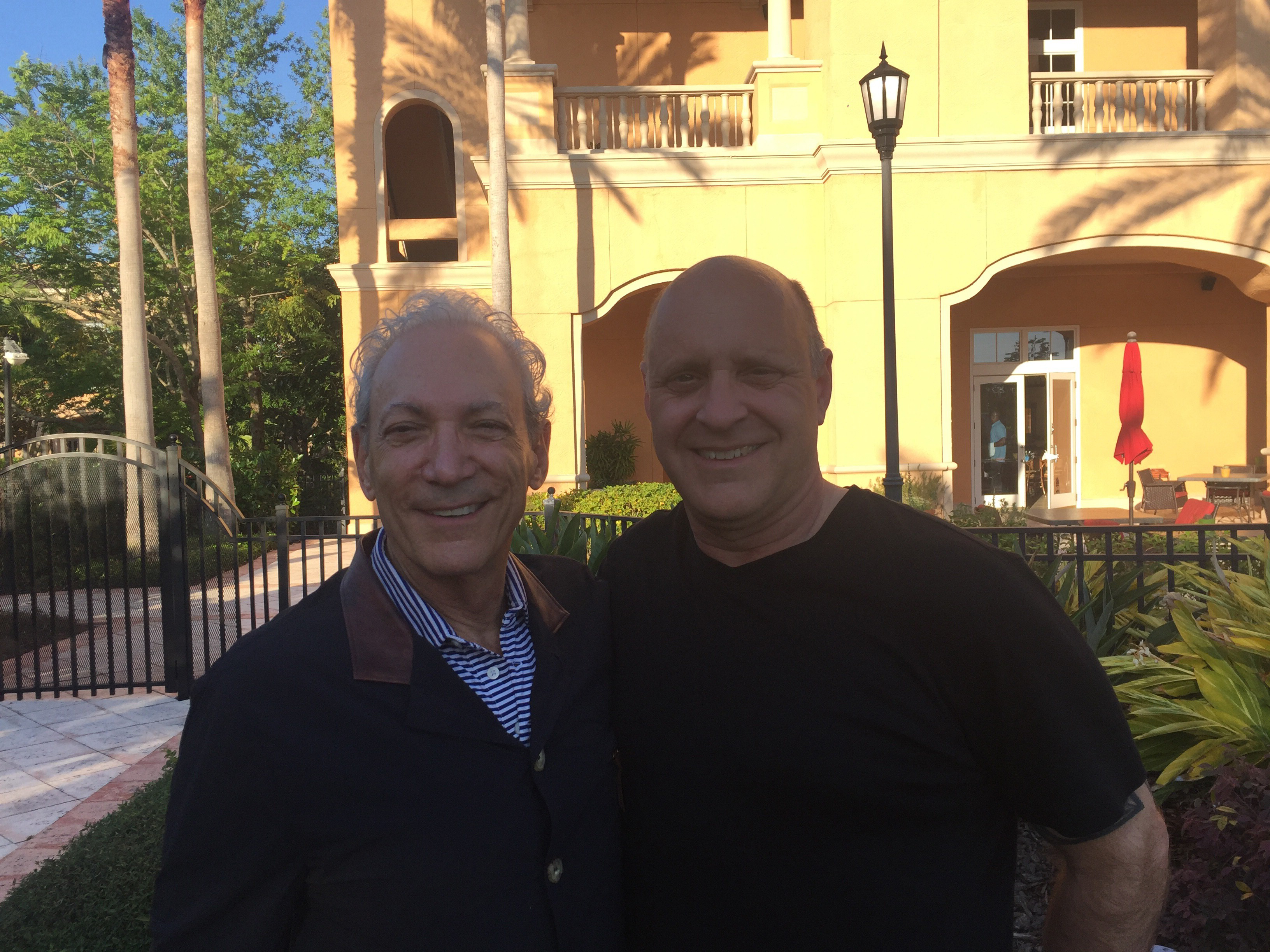 Dennis Ratner, stylist, CEO and Founder of Ratner Companies, with Phil Horvath, the company's  new president and chief operations officer.