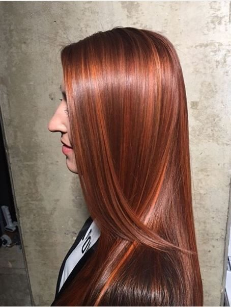 Red-hot shine 🌶️ by @hairbyjsmith.