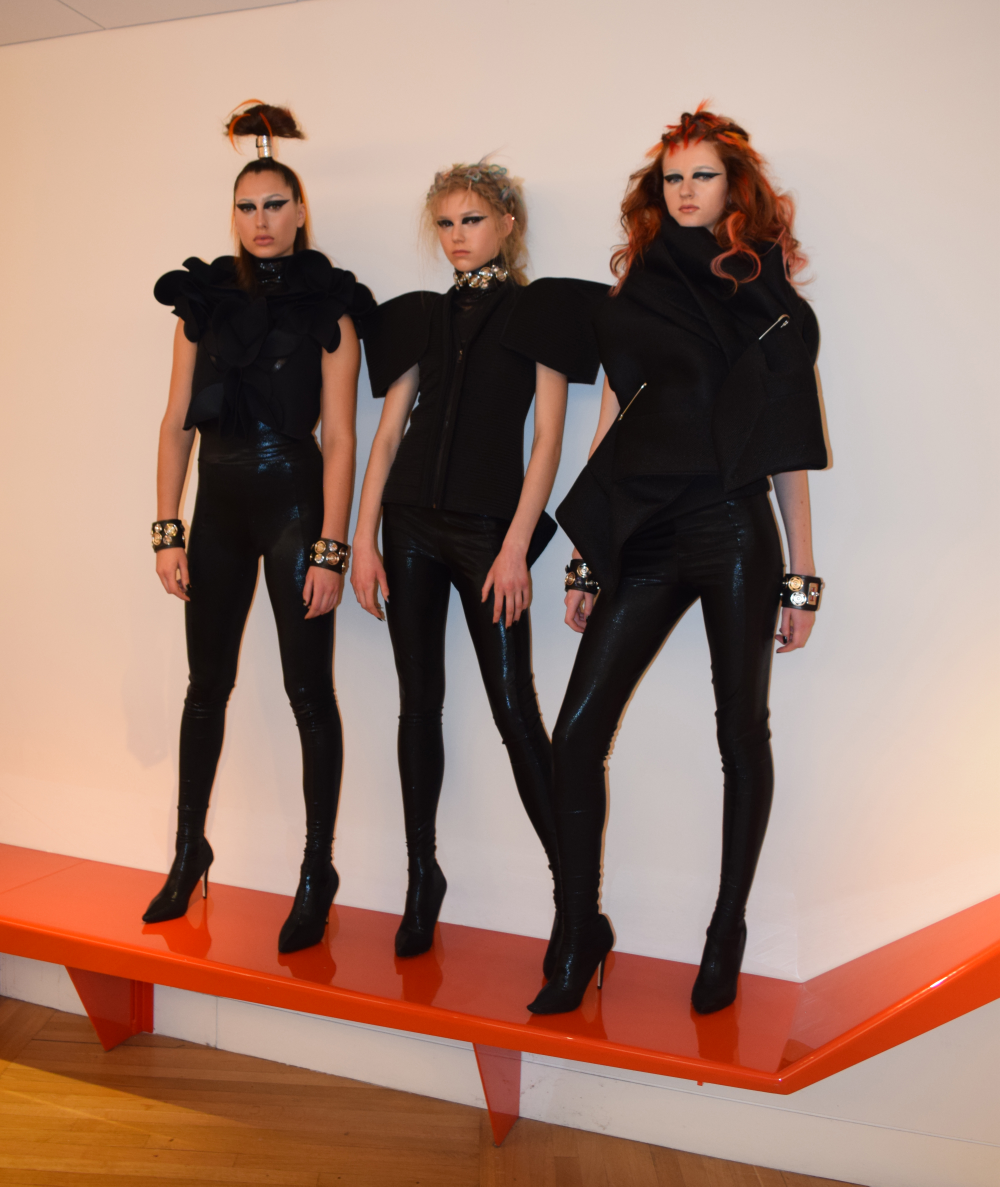 """""""What we did is took sunsets and based our looks off that. We added some futuristic touches for the BCL Art of Prediction theme.""""<br />—Lauren Mazza, Redken mentee"""