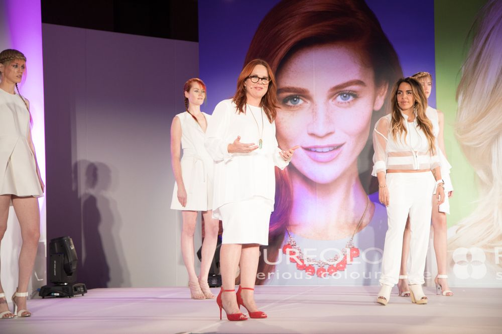 <strong>Ruth Roche and Wendy Belanger of Pureology</strong> were there to teach the latest on trend and color care.