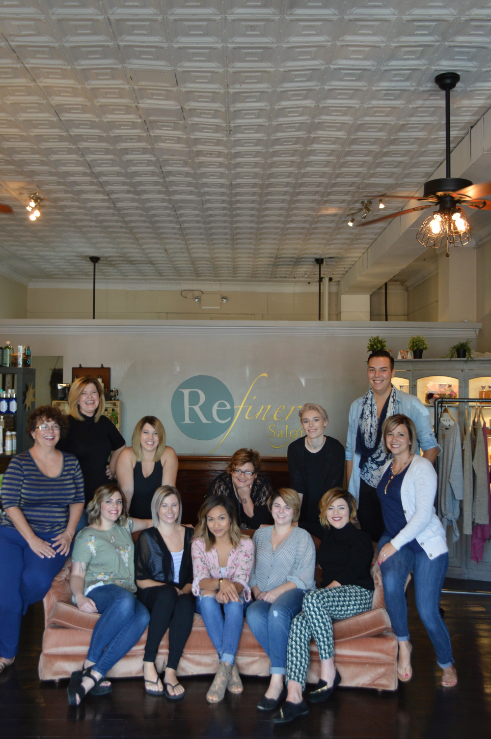 The team from Refinery Salon in O'Fallon, IL.