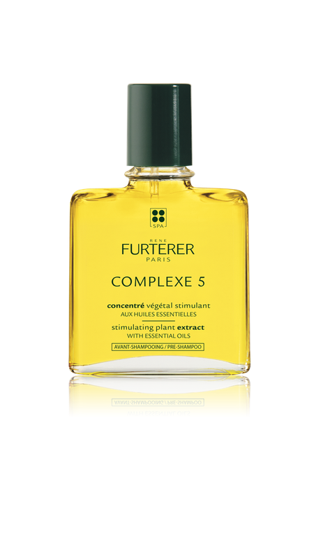 """René Furterer COMPLEXE 5 Regenerating Plant Extract: Luxurious, aromatic, deep-cleansing, pre-shampoo elixir comprised of 53% pure essential oils of orange and lavender; provides antiseptic action to tone and purify the scalp as it activates the scalp's microcirculation. Visit <a href=""""http://www.renefurtererusa.com"""" target=""""_blank"""" rel=""""noopener"""">renefurtererusa.com</a>. <br /> <strong><br /></strong>"""