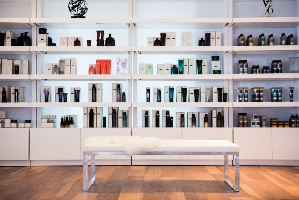 The retail shelves designed by Eurisko create a high-end boutique retail experience for guests.