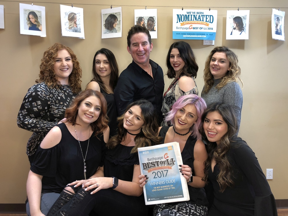The team from Richard Salon in Smithtown, NY.