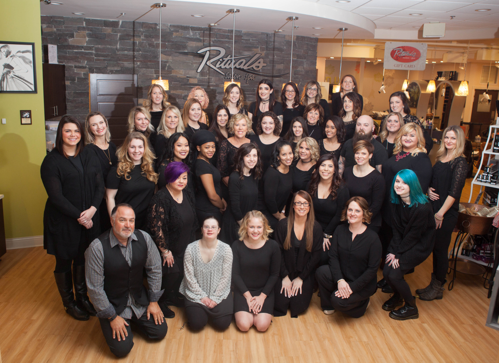 The team from Rituals Salon-Spa in Midlothian, VA.