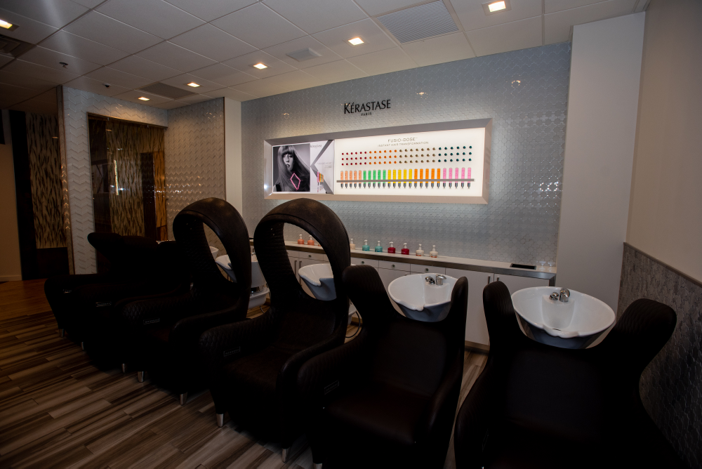 <p>Clients have the option to add chromo therapy to their shampoo experience.</p>