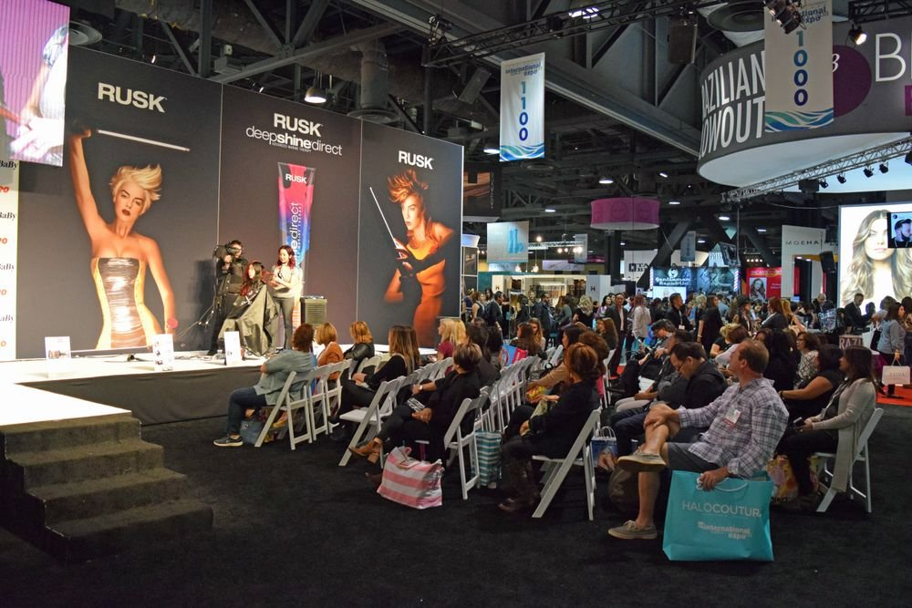 The Babyliss Pro booth was larger than life and full of eager stylists.
