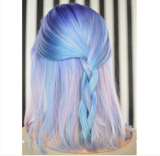 @kisskasshair incorporated just enough amethyst hues to make this the perfect Serenity color.
